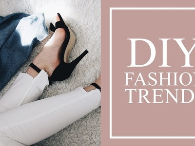 DIY FASHION TRENDS| Uneven Hem, Cropped hoodie, Choker tee | FashionDesire