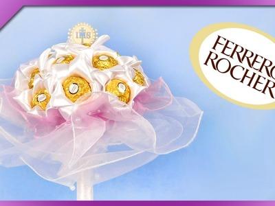 DIY Ferrero Rocher bouquet, for wedding, First Communion (ENG Subtitles) - Speed up #343