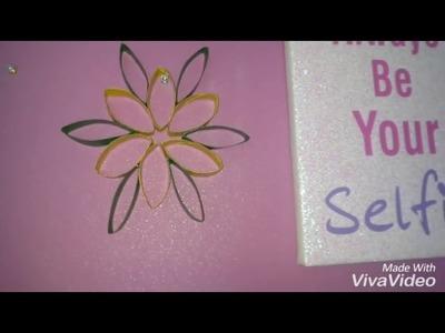 Diy fleur avec papier rouleau