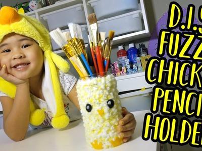 DIY Fuzzy Chicken Pencil Holder | Pencil Jar Crafts for Kids | Easy Spring Themed Pen Holder DIY