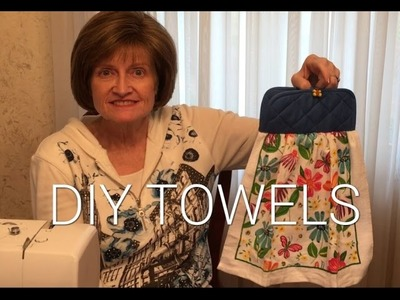 DIY Hanging Kitchen Towels
