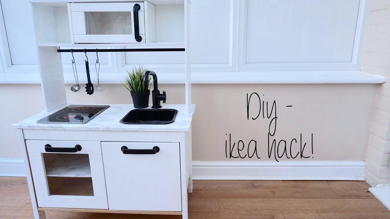 Diy home decor ikea hack childrens kitchen carly jade for Kitchen design hacks