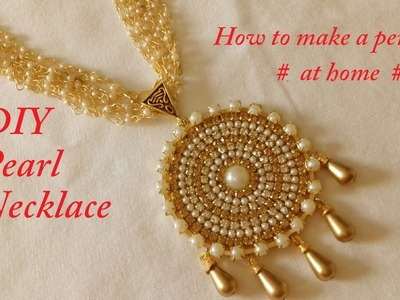 DIY || How to make Bridal Pearl Necklace || made out of paper || DIY paper Tutorial