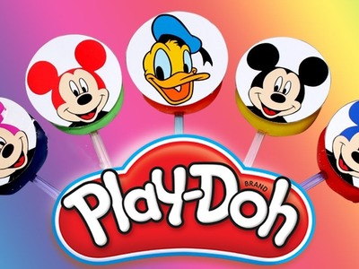 DIY How To Make Mickey Mouse Play Doh Learn colors for children