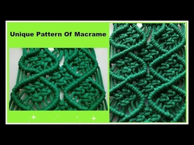 DIY Macrame Pattern No 8 | Step by Step Macrame Design | सीखिये मैक्रेमका खूबसूरत डिजाईन पॅटर्न नं ८