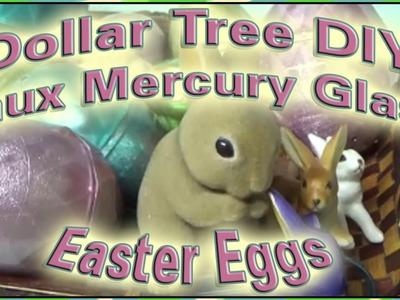 "DIY ""Mercury Glass"" Plastic Dollar Tree Eggs for Spring & Easter"
