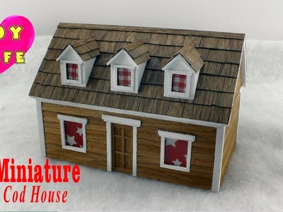 DIY Miniature Cape Cod House With Lights