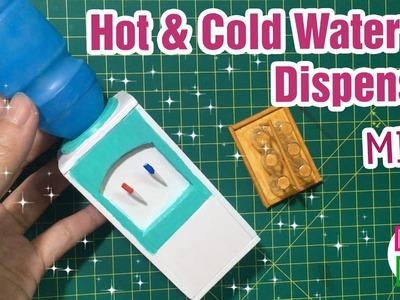 DIY Miniature Hot & Cold Water Dispenser   Dollhouse