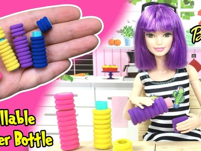 DIY Miniature Working Water Bottle For Barbie Dolls - Easy Doll Crafts - Making Kids Toys