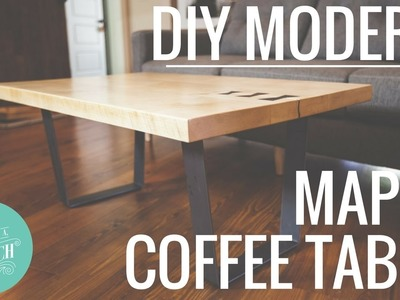 DIY Modern Maple Coffee Table. Woodworking Project