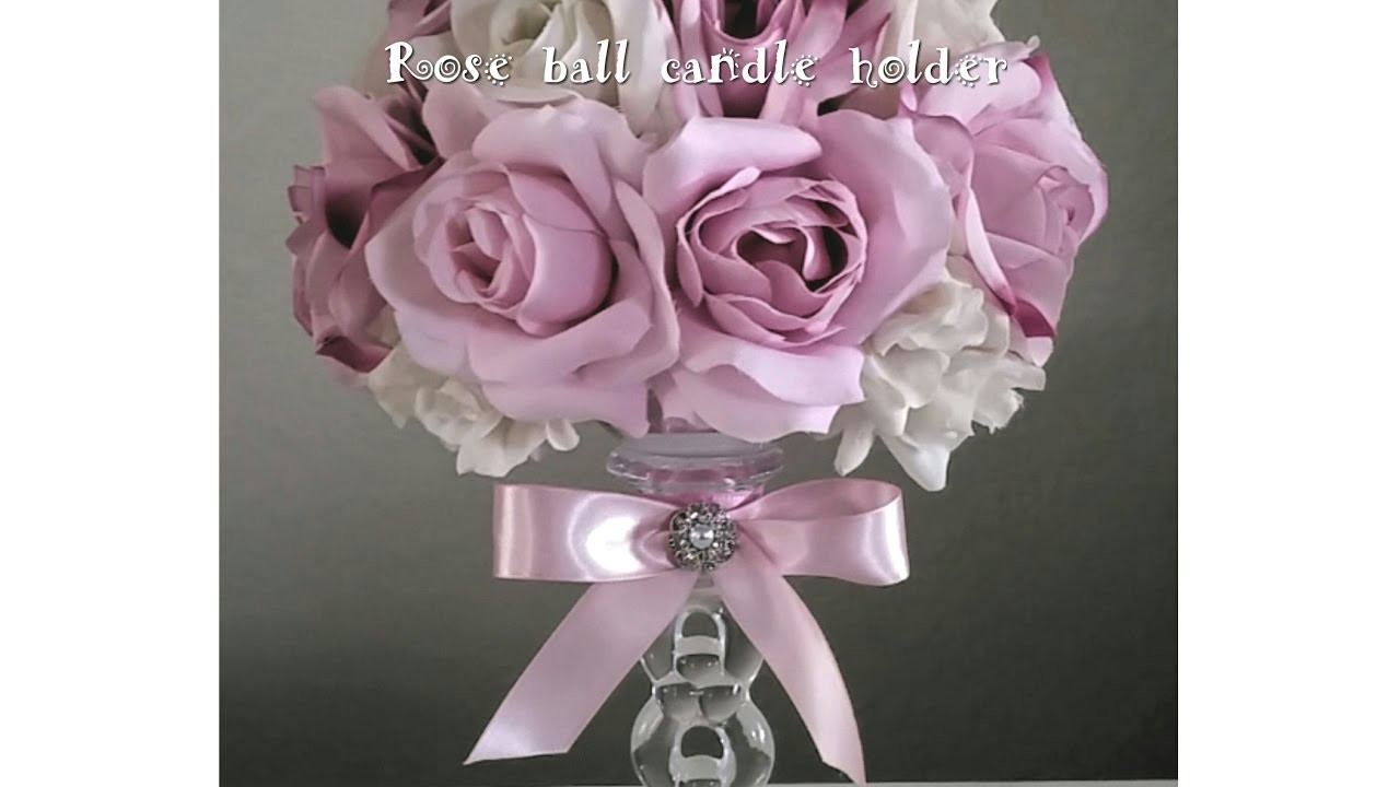 DIY| MULTI COLOR ROSE CRYSTAL CANDLE HOLDER. WEDDINGS,  MOTHER'S DAY,  SPECIAL EVENTS