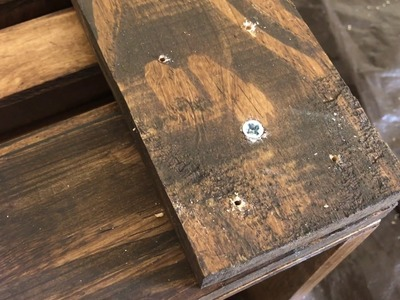 DIY Pallet Wood Crate Coffee Table w. Metal Wheels