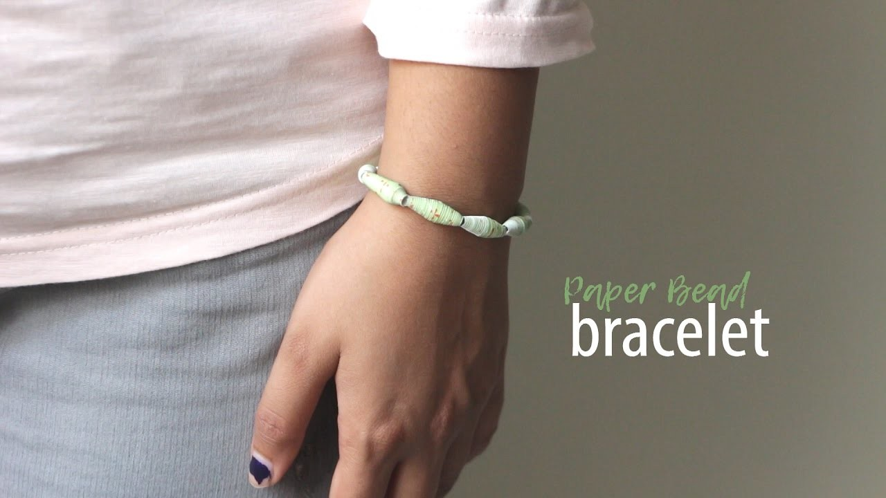 DIY Paper Bead Bracelet