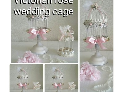 DIY| ROSE AND PEARL, TEA LIGHT, AND CANDLE WEDDING CAGE