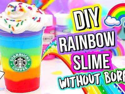 DIY SLIME! DIY BEST Rainbow Slime Recipe! How To Make Slime!