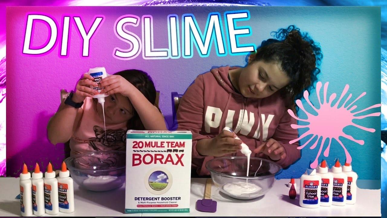 DIY SlIME RECIPE - HOW TO MAKE SLIME