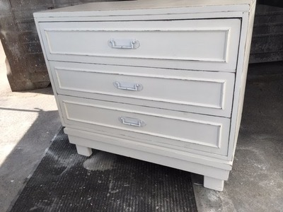 DIY Thrift store dresser makeover. Easy add legs to up cycle. You can do it too!