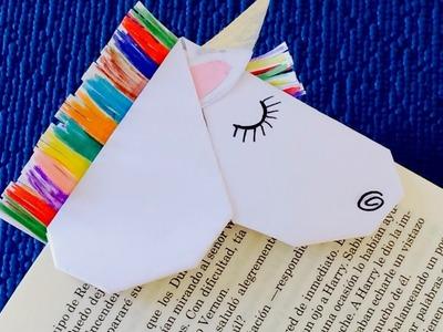 DIY: unicorn bookmark corner origami | how to make a bookmark