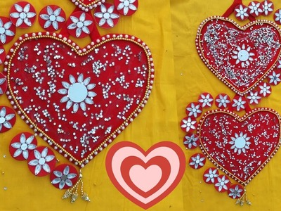 DIY Wall Hanging | DIY Heart Shape Wall Decor Ideas for Valentines Day | DIY Crafts for Room Decor