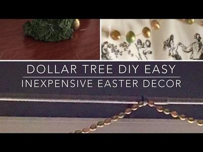 Dollar Tree DIY Easy Inexpensive Easter Decor 2017