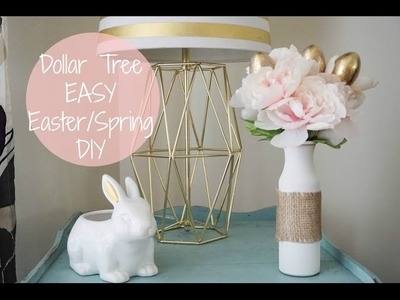 Dollar Tree EASY DIY Easter.Spring Flower Arrangement| Megan Navarro
