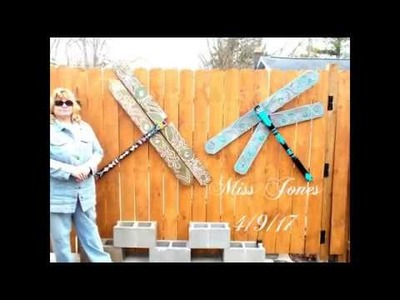 Dragonfly Outdoor Landscape With Bling A DIY Project And How To -Spring Is Here!