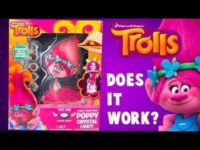 Dreamworks Trolls Poppy DIY Paint Your Own Poppy Troll Light!