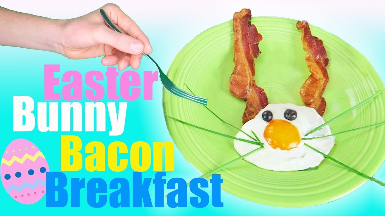 Easter Bunny Bacon Breakfast Challenge | DIY Easter Egg Food | Kids Cooking and Crafts