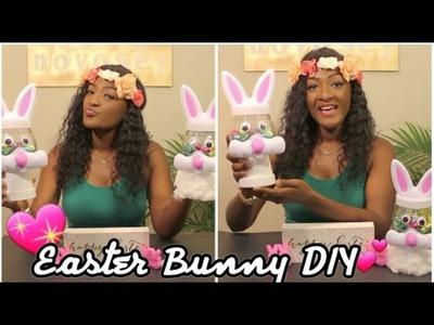 Easter Bunny DIY Dollar Tree : Fun Centerpieces || Chanelle Novosey