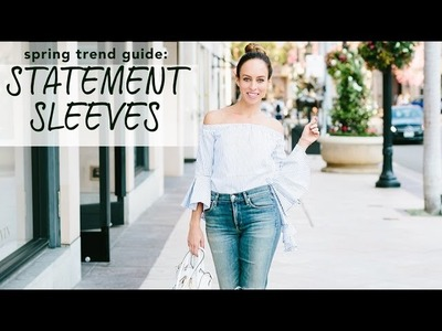Easy DIY + How to Wear STATEMENT SLEEVES I Spring Trend Guide