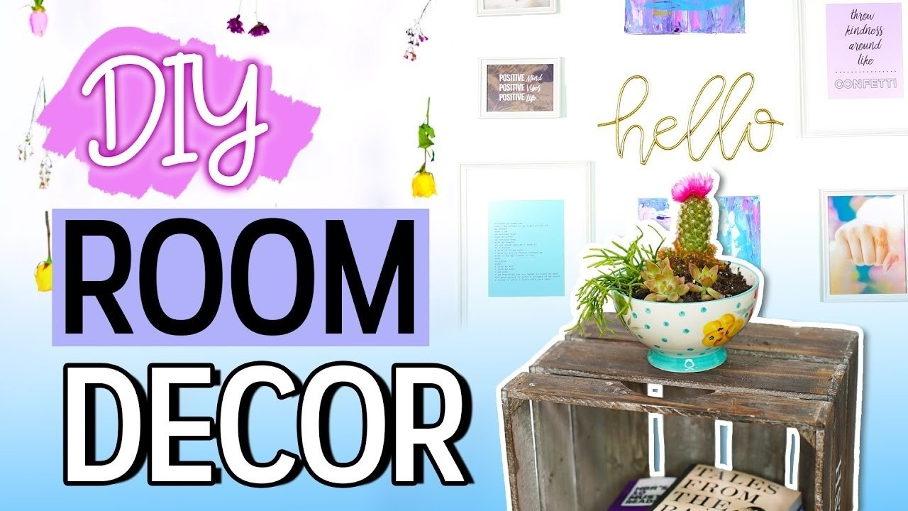 Easy diy room decor ideas must try bethany mota for Room decor easy crafts