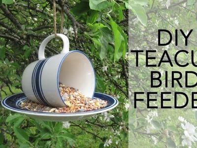 Easy DIY Teacup Bird Feeder