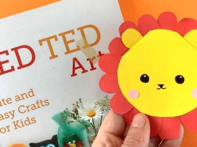 Easy Lion Bookmark DIY - Animal Bookmark Corner DIY
