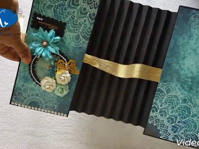 Flag album using Nakshathra Designz Scintillating Mandalas pattern paper