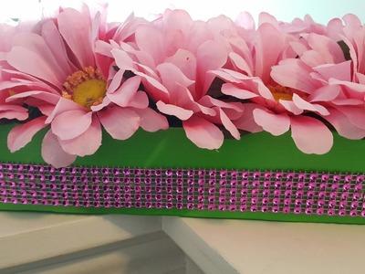 HANGING FLOWER BOX | Dollar Tree DIY | UPCYCLE CRAFTS