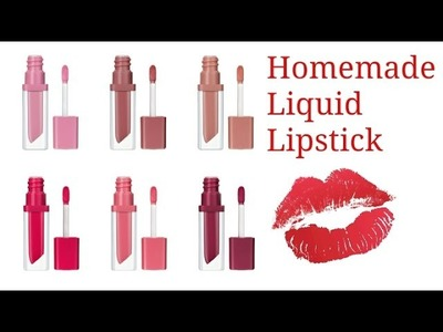Homemade Liquid Lipstick |DIY  liquid lipstick