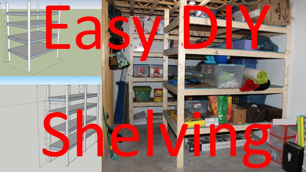 How to build storage shelving easy diy plans included for Diy mountain shelf plans