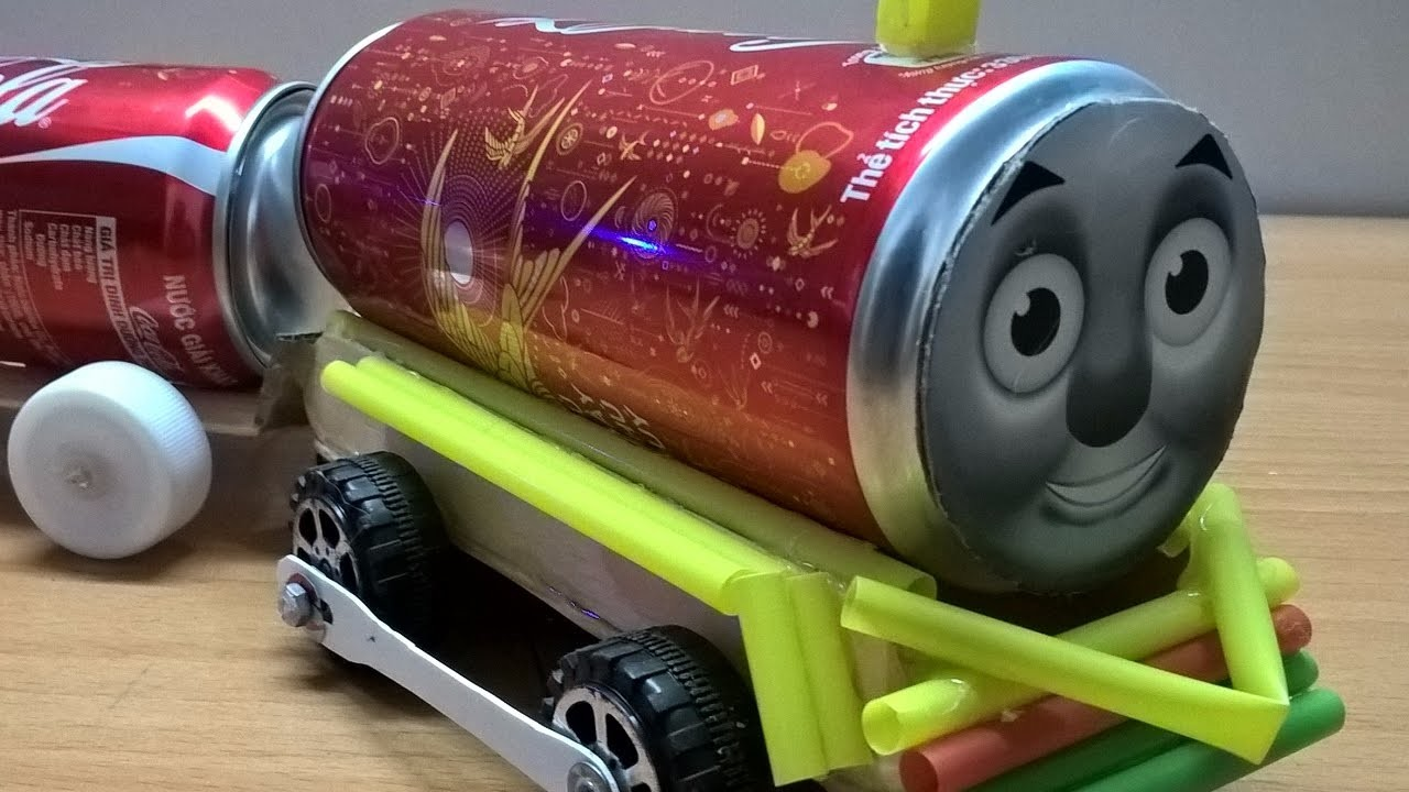 How to Make a Train at Home -  Electric Car Train DIY Easy.