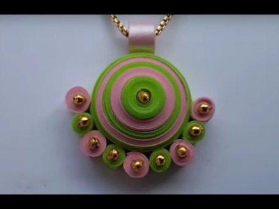 How to make quilling pendant easily at home l DIY l quilling paper pendant tutorial step by step l
