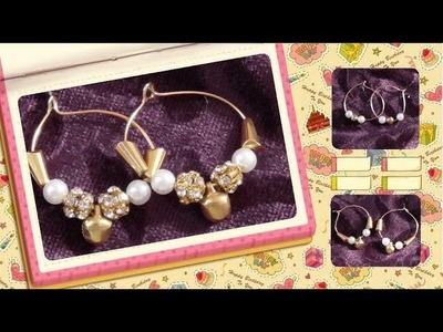 How to make special bali type earrings | DIY bali earrings at home|Jewelry making home tutorials|