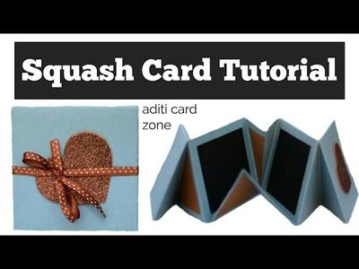 How to make Squash Card | Squash Card Tutorial |