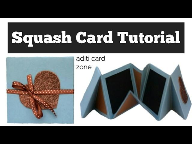 How to make Squash Card   Squash Card Tutorial  