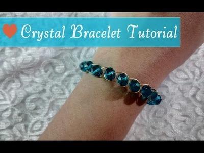 Make Your Own Crystal Bracelet at Home DIY Tutorial