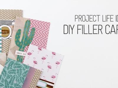 Making DIY Project Life Filler Cards