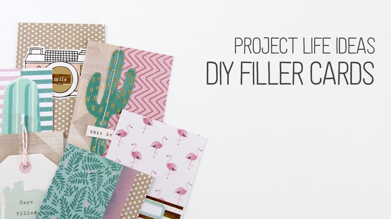 Making DIY Project Life Filler Cards