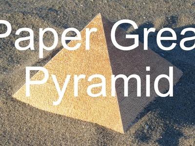 Paper Great Pyramid Tutorial
