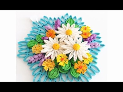 Paper Quilling Flower for Wall Hanging Decoration 18. DIY Wall Decoration.Paper Flower Art