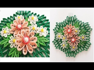 Paper Quilling Flower for Wall Hanging Decoration 16. DIY Wall Decoration.Paper Flower Art