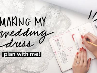 Plan With Me: DIY Wedding Dress in Bullet Journal   WITHWENDY