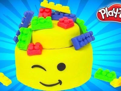Play Doh Cake and Ice Cream Lego Movie Cake Rainbow Learning Diy Castle Toys